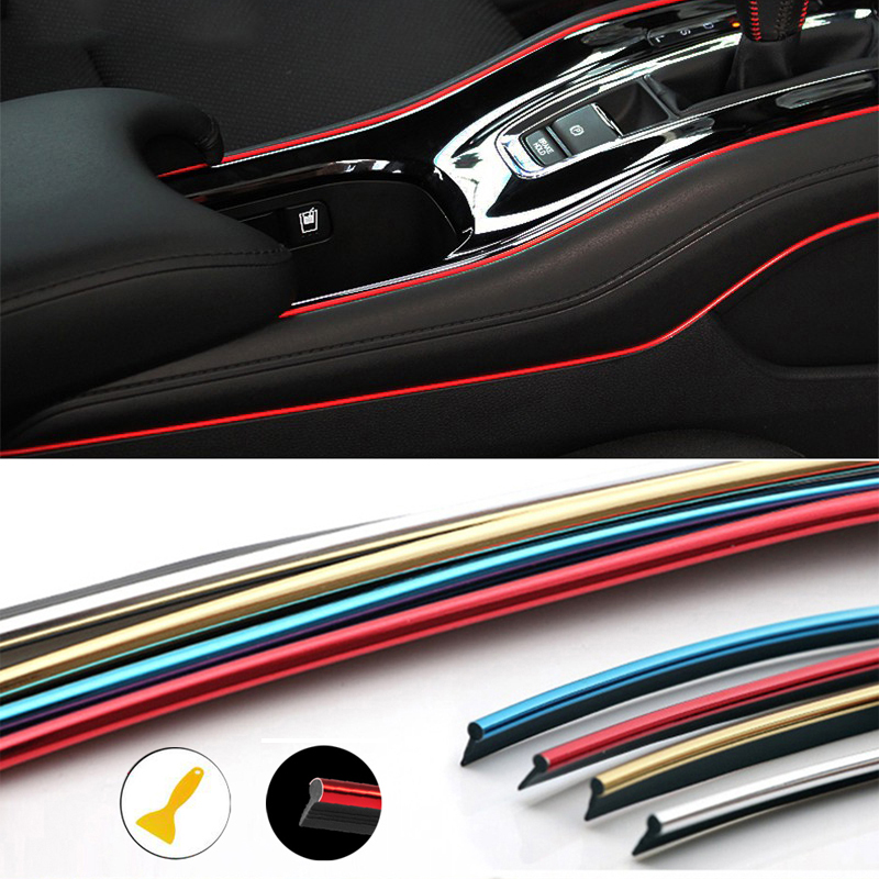 Car Mouldings Trim 3D Line Strips Dashboard Door Edge For Kia Rio K3 Ceed Sportage 3 Sorento Cerato Armrest Picanto Soul Optima