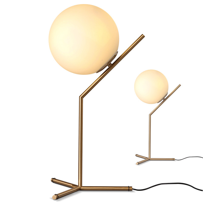 Free shipping Nordic glass ball table light art decoration desk lamp for bedroom/study room bedside table lighting,Floor lamp free shipping employee training table the long tables desk training carrel