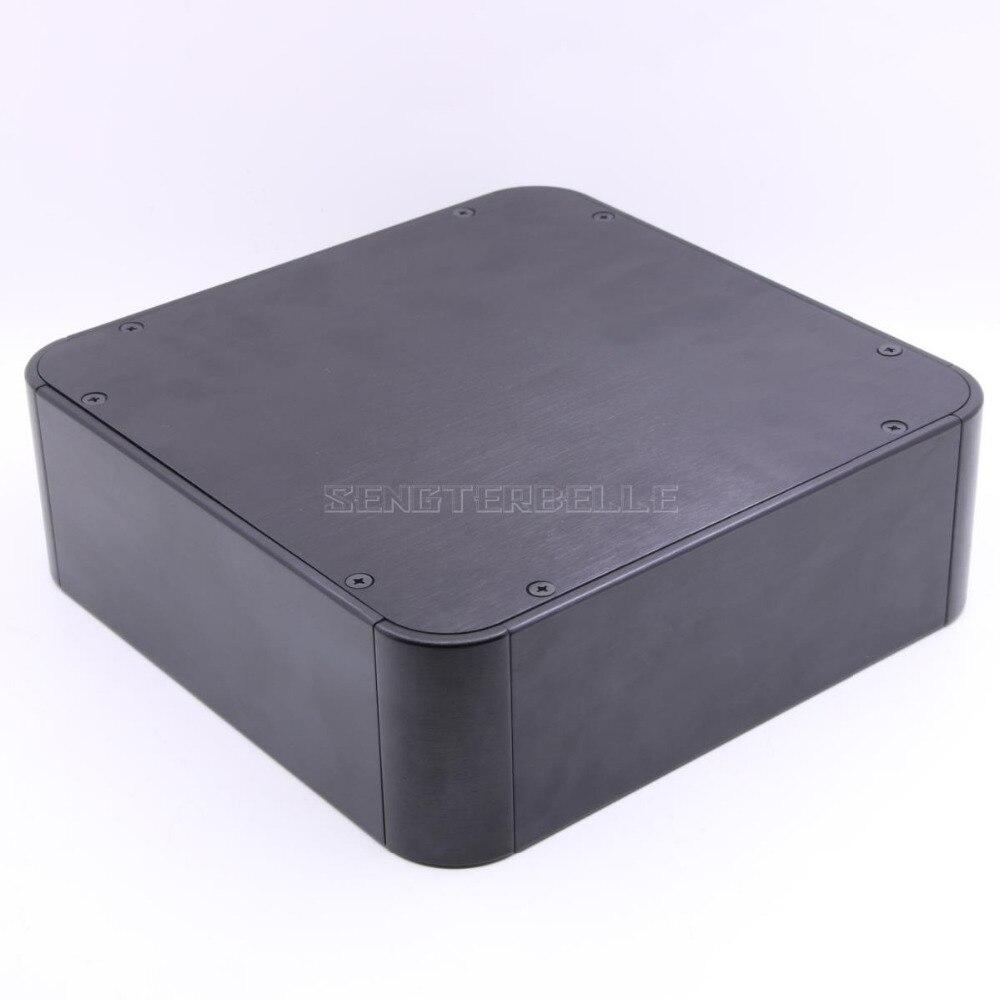 2107 noir plein aluminium préamplificateur enceinte amplificateur châssis Audio puissance Amp boîte bricolage HIFI Shell