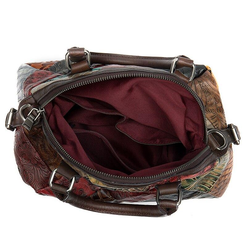 WESTAL femmes sac dames en cuir véritable sacs à main de luxe femmes sacs Designer couture femmes sac à bandoulière pour femme sacs à main - 4