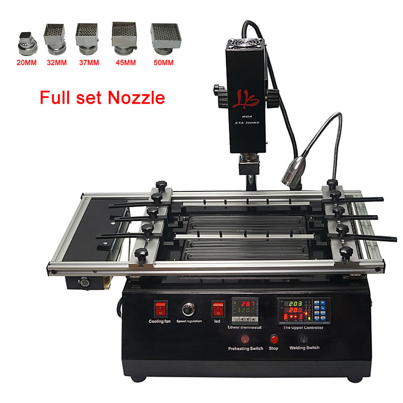 Bga infrared rework station hot air LY M780 with full set nozzle for repair IC chip mobile phone motherboard xbox and ps4