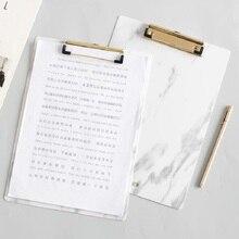 Hotest креативный мраморный узор, папка доска для заметок, пластиковый блокнот, вертикальная доска для письма, зажим