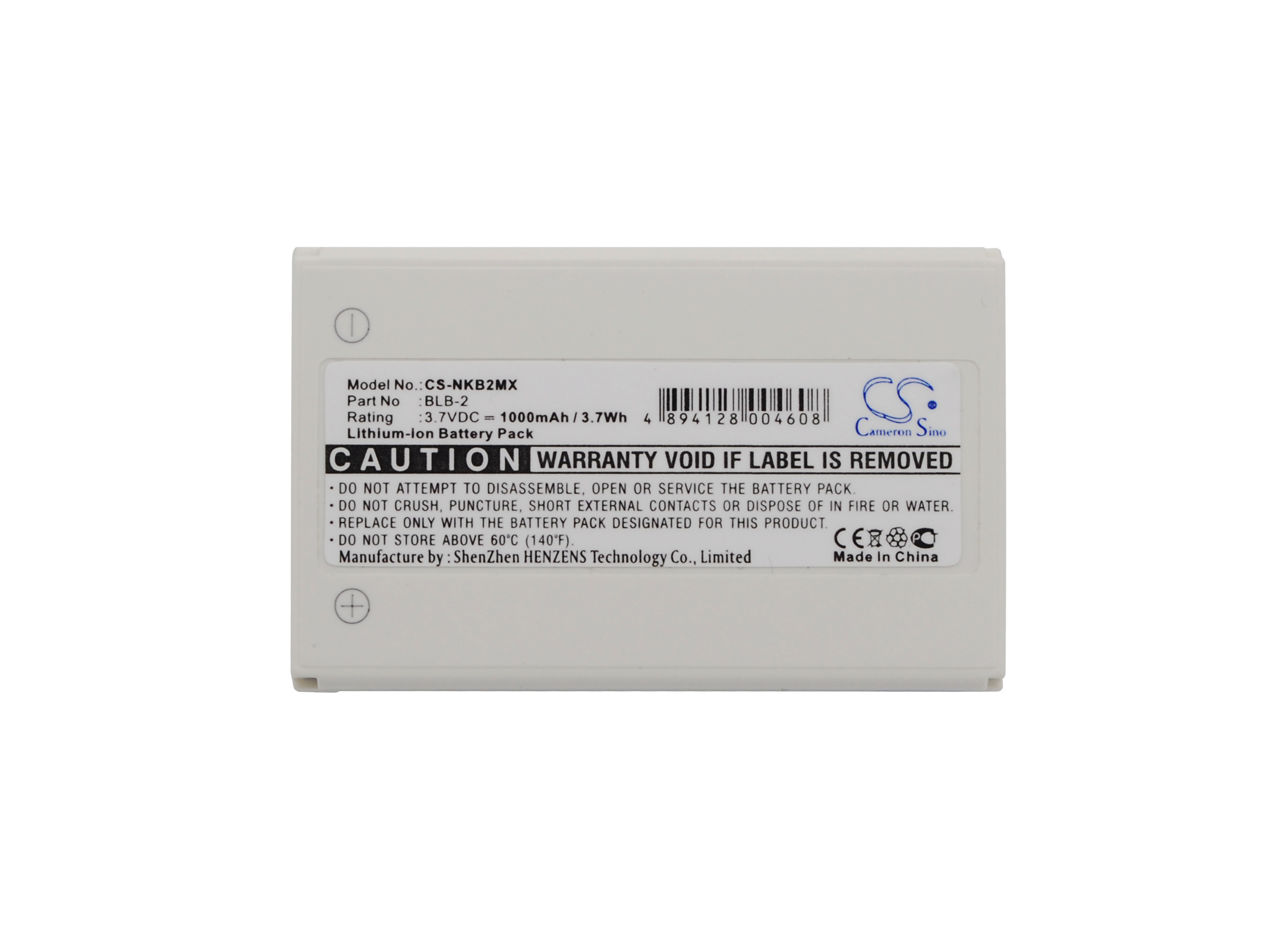 Cameron Sino Battery BLB-2 for <font><b>Nokia</b></font> 3610,5210,6500,6510,6590,7150,<font><b>7650</b></font>,8210,8310,8390,8850, 8890,HLXU02 for Bell/Howell BH725 image