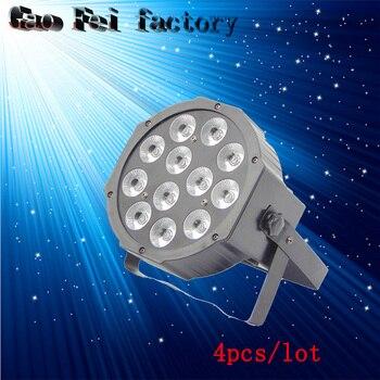 4 개/몫, 캐스트 알루미늄 야외 led 파 빛 12x12w rgbw 4in1 방수 무대 조명 장비 바