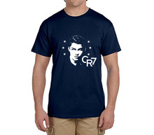 Star Cristiano Ronaldo CR7  tee 100% cotton shadow t shirts short sleeve Mens o-neck fashion T-shirts fans gift 0216-12