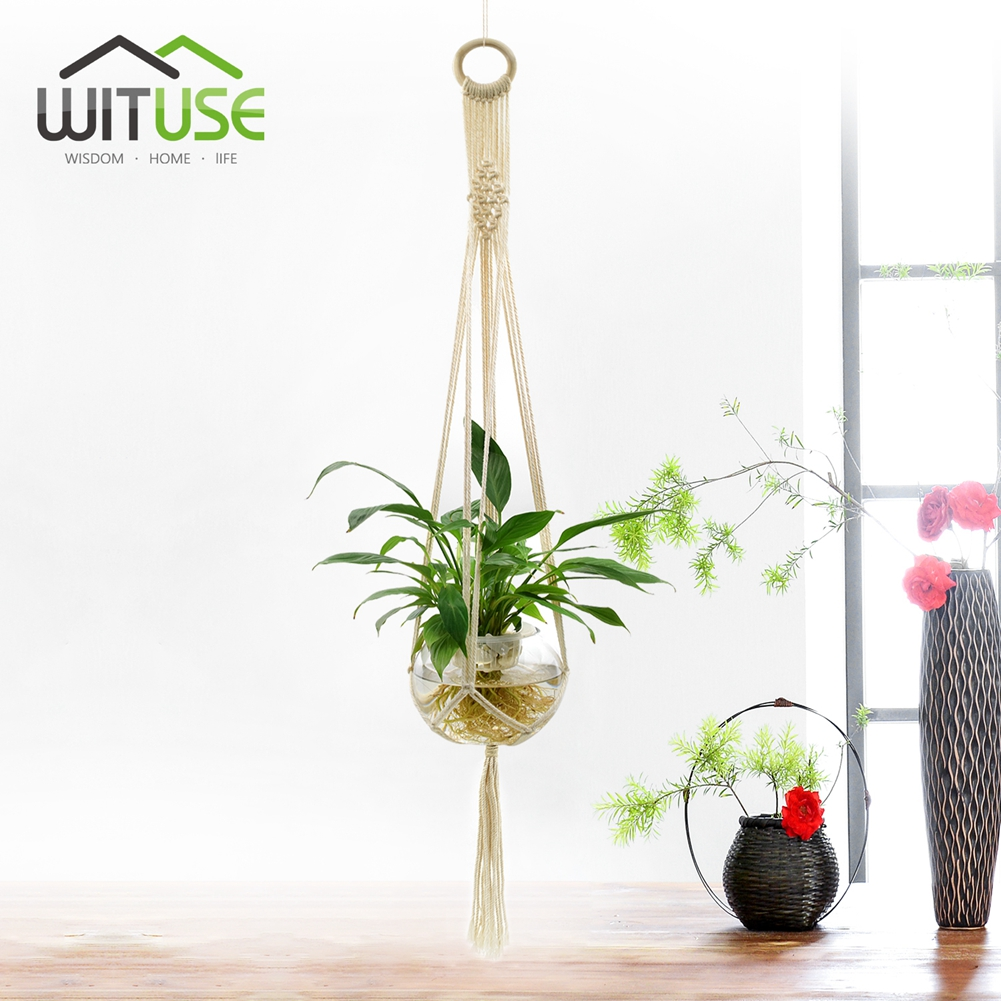 Macrame Plant Hanger Pot Holder Braided Tel Indoor Hanging Basket Ropes Outdoor Elegant Windows Decor In Cords From Home Garden On