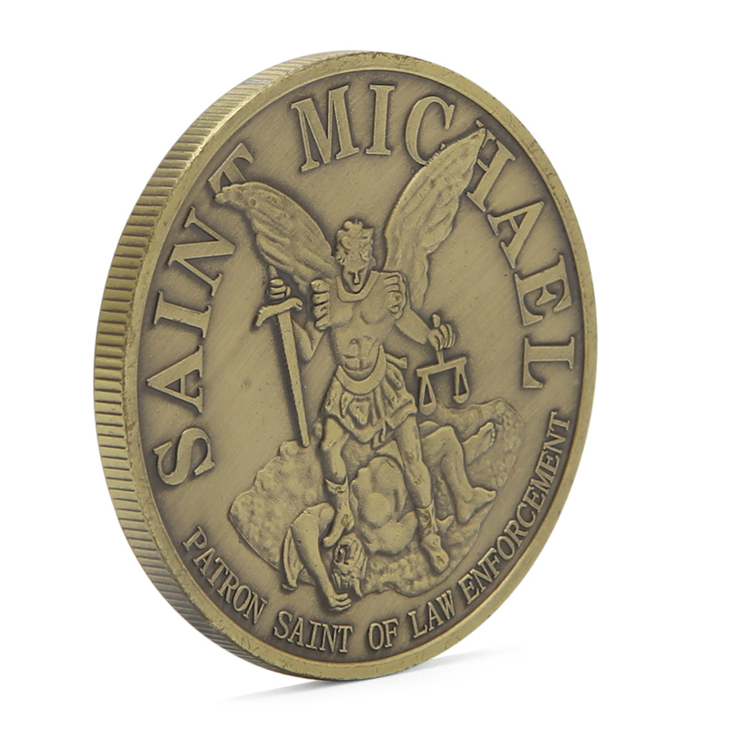 Coin Collection For Sale >> Us 1 07 18 Off 1pc Saint Michael Seattle Police Department Commemorative Challenge Coin Collection Hot Sale In Non Currency Coins From Home Garden