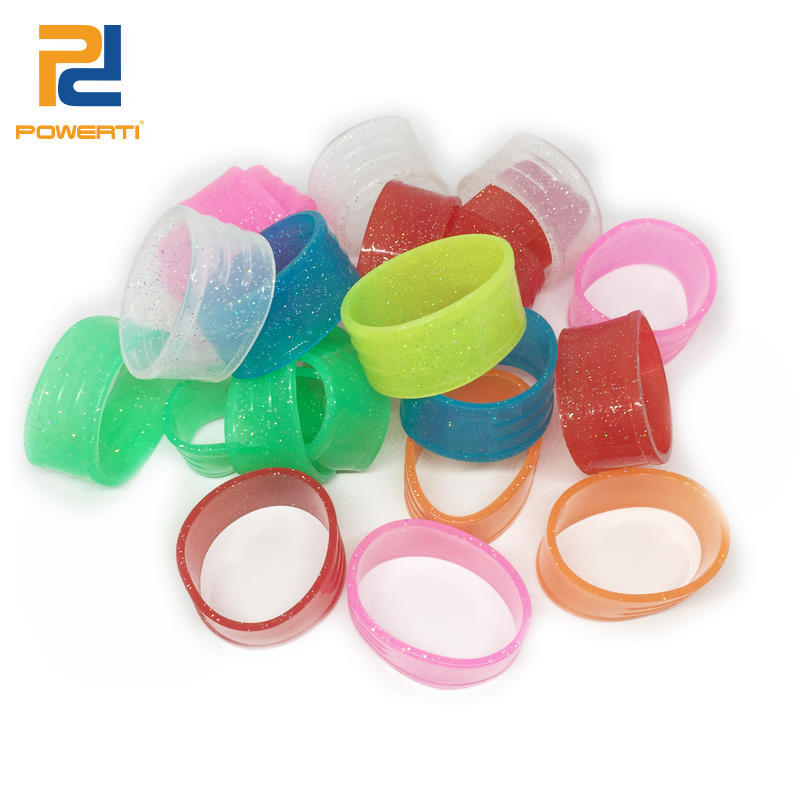 Powerti 20 Pcs/lot-Various Colors Brand Powerti New Oem Custom Silicone Tennis Racket Grip Ring Accessories