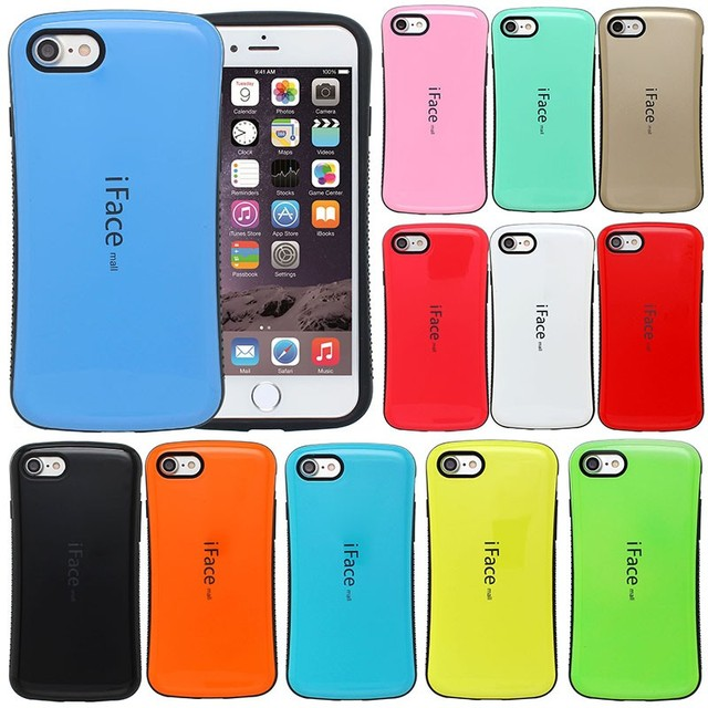 new product 1e628 eb973 iFace Silicon Case Cover Skin for iPhone 7 8 Back PU+TPU Protector  Shockproof Cover for iPhone 8 Back Case for iPhone7 Bag Shell
