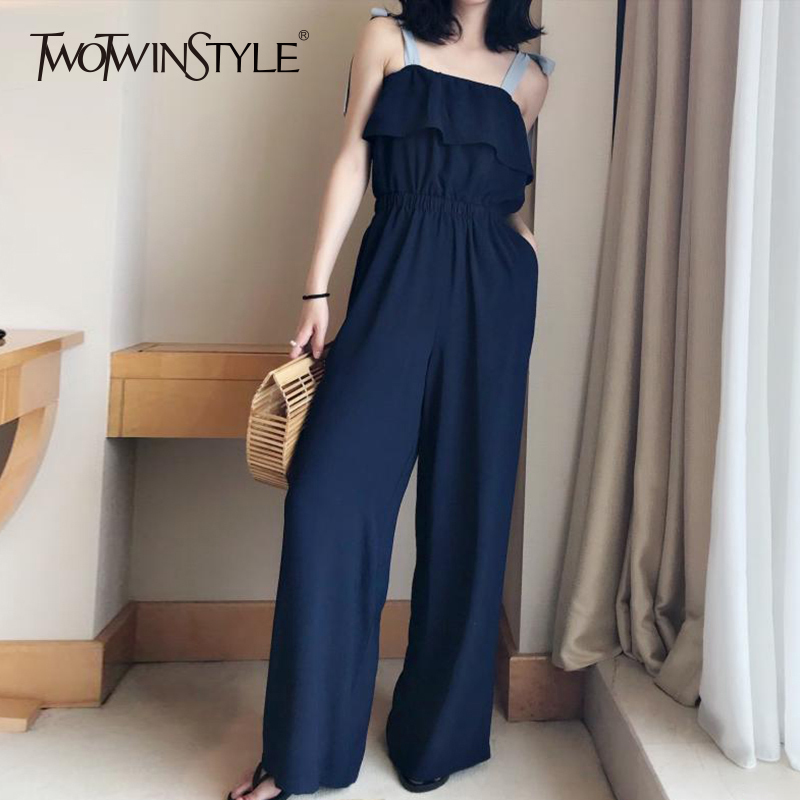 0d633a2a283 ... Lace Up Jumpsuits Womens Off Shoulder Ruffles Tunic High Waist Maxi Wide  Leg Pants Summer Fashion Holiday Clothing. -41%. Click to enlarge