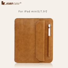 Купить с кэшбэком Jisoncase for ipad mini case Microfiber Tablet For ipad mini 5 7.9 Folding Folio Case Pencil Slot 2018 Protective Cover funda