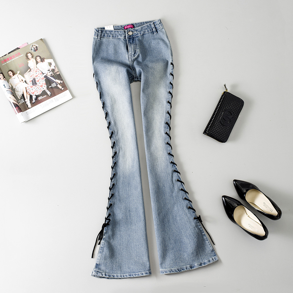 Online Buy Wholesale big bell bottom jeans from China big