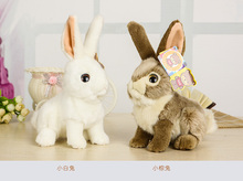 high quality about 18cm lovely rabbit plush toy soft doll baby toy birthday gift,Xmas gift c790