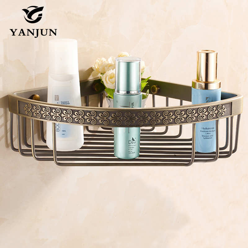 yanjun brass corner shelf shower caddy tidy holder unit bathroom rack bathroom accessories yj8811
