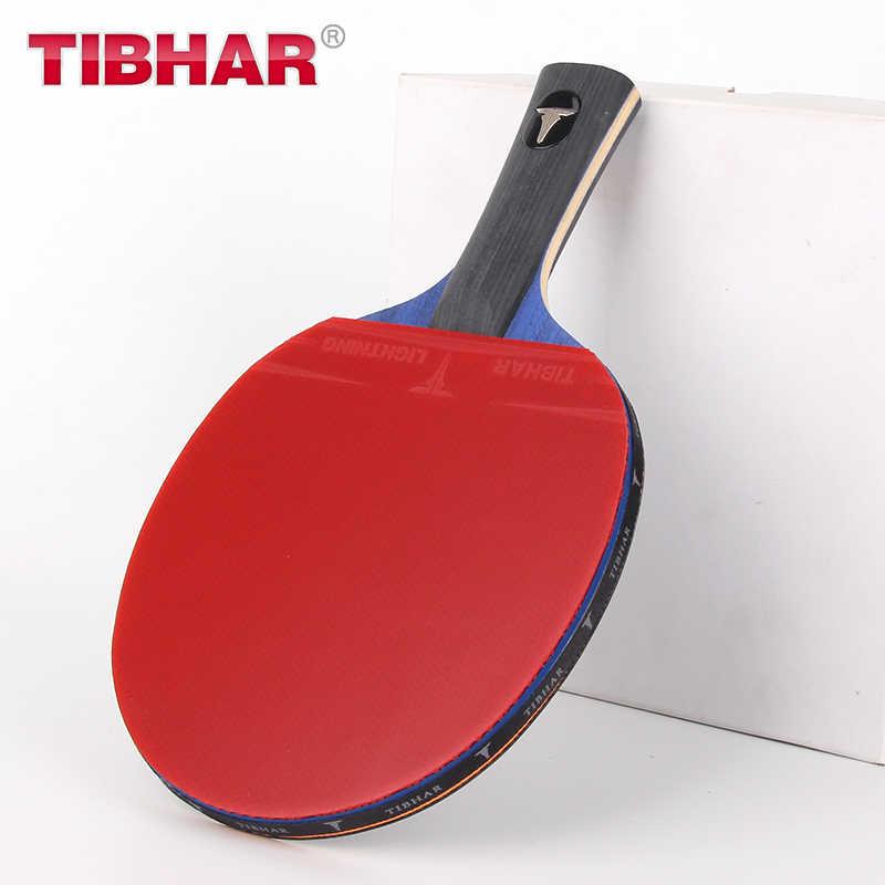 Tibhar Pro raqueta de tenis de mesa, raqueta de Ping Pong de goma con espinillas, alta calidad con Bolsa 6/7/8/9 estrellas