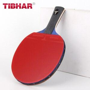 Image 2 - Tibhar Pro raquette de Tennis de Table, avec clous en caoutchouc, haute qualité, avec sac 6/7/8/9 étoiles