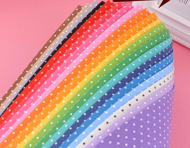 new arrival 1mm Mix 20 Colors 15x15cm Polyester Nonwoven  Felt Cloth For baby DIY Handmade Sewing bag Pillow Felt Fabric j4