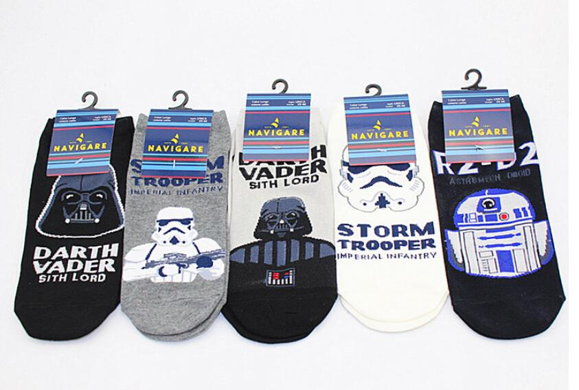 Movie Cosplay costume Accessory Star Wars Cosplay Darth Vader Patterns Cotton Socks Men Women Casual Socks Halloween Gift