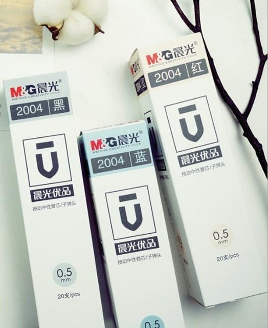 20 stücke. 0,5mm Refill tinte ersatz gel ink pen refill für Original Xiao mi mi jia Zeichen Stift mi Stift 9,5mm Unterzeichnung Stift