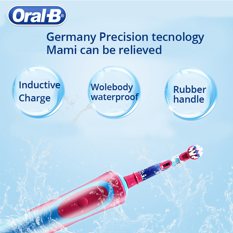 Oral B Electric Toothbrush Kids For Child More Than 3+ Years Rechargeable Inductive Charge Brush Heads For Kids Brush Hedas