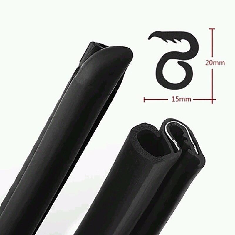 2X80Cm B Pillar Type Car Rubber Seal Strip Windproof Anti-Noise Dustproof EPDM Sealing Strips Car Styling For Auto Car Door Edge