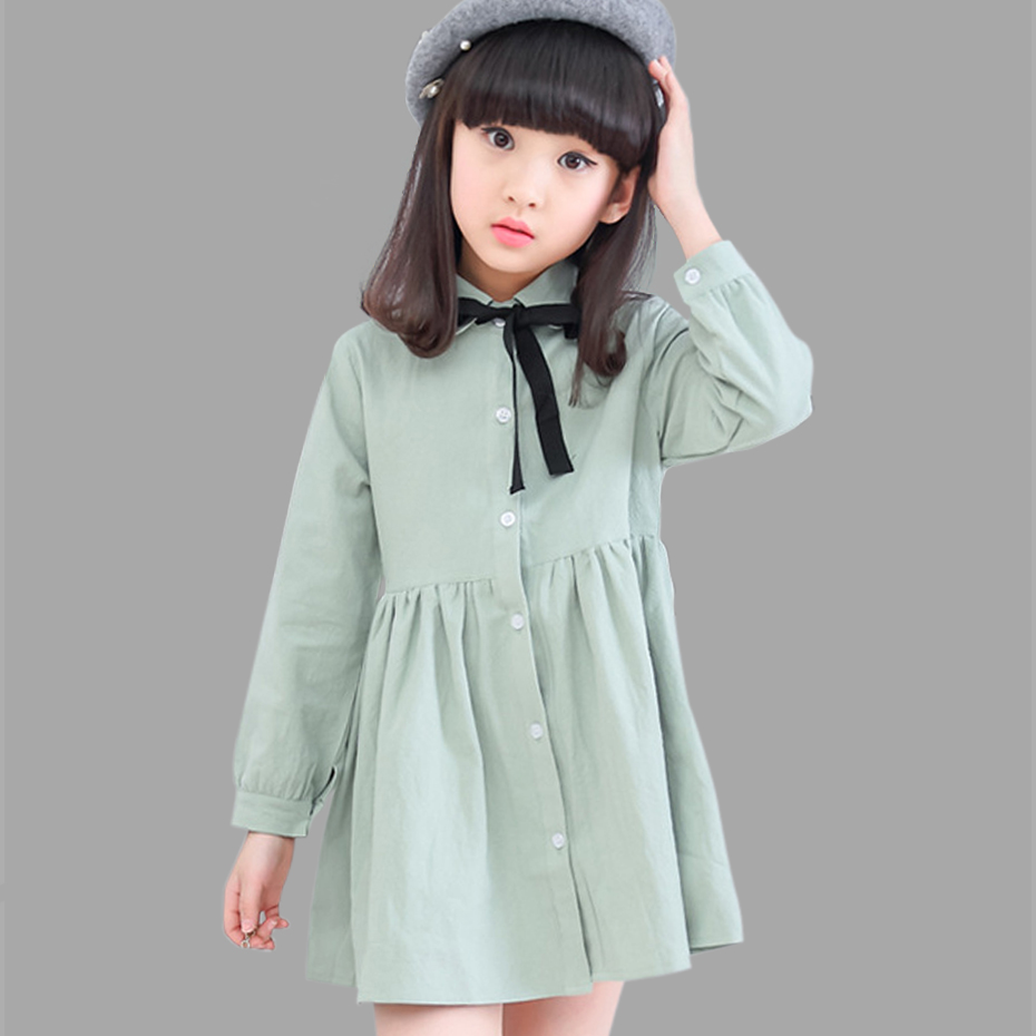 Girls Dress Spring Cotton Dress For Girls Teenage Party Dresses ...