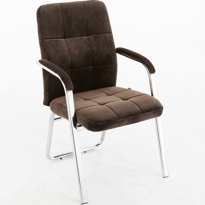 Simple Modern Style Office Meeting Chair Super Soft Flannelette Fabric Computer Chair Strong Steel Frame Office Chair