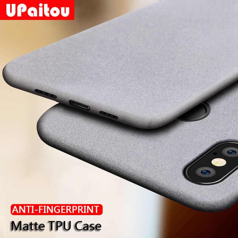 Caso para Xiaomi Redmi Nota 7 7A UPaitou 5 4 4X 5A Prime 6 K20 Pro 6A S2 IR Anti fingerprint Soft Case Matte TPU Ultra Fino Capa