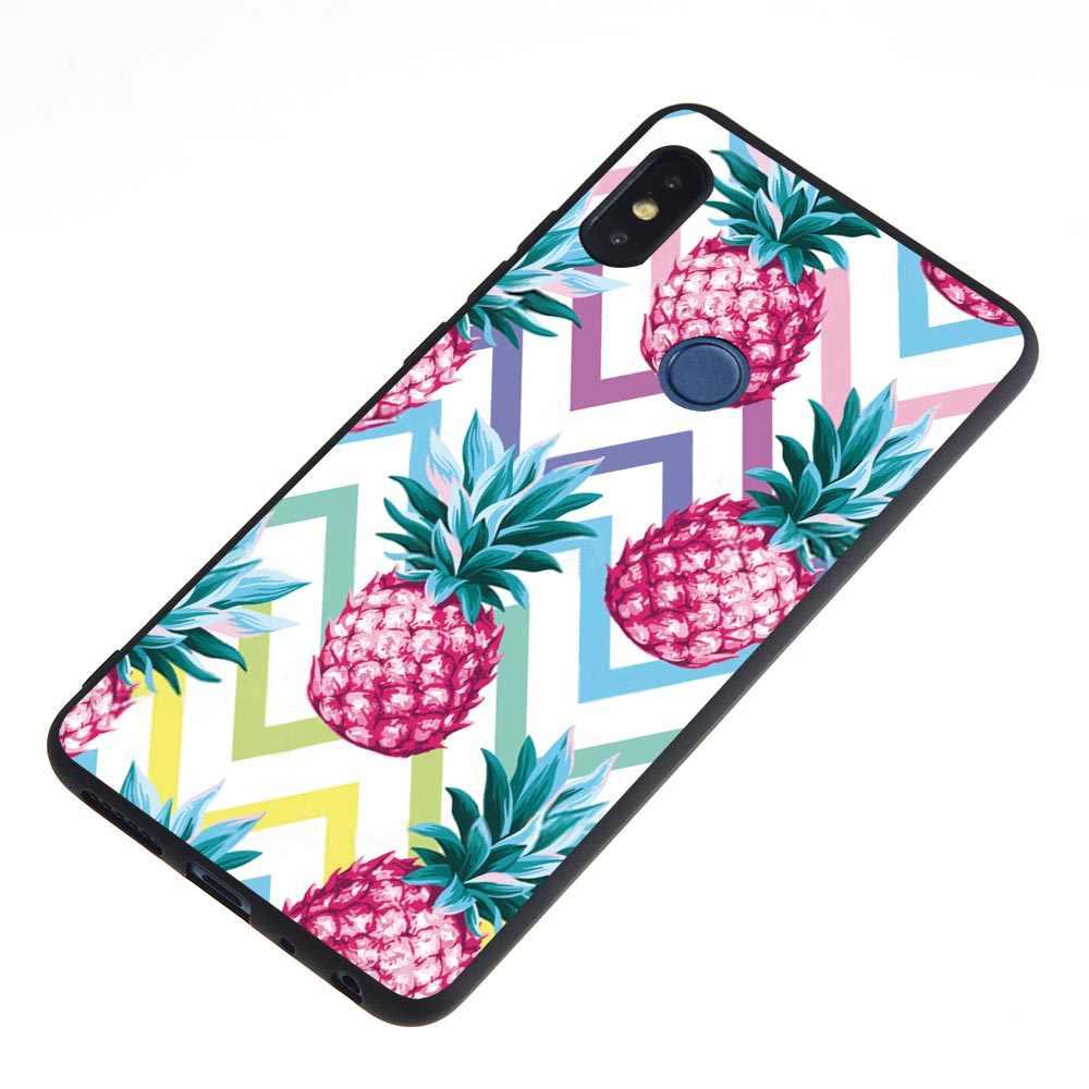 Pour Redmi Note 6 Pro 6A S2 étui de téléphone pour xiaomi de luxe 6 5X6X8 SE 8se A1 A2 flamant rose fleur feuilles amour coeur housse de boîtier
