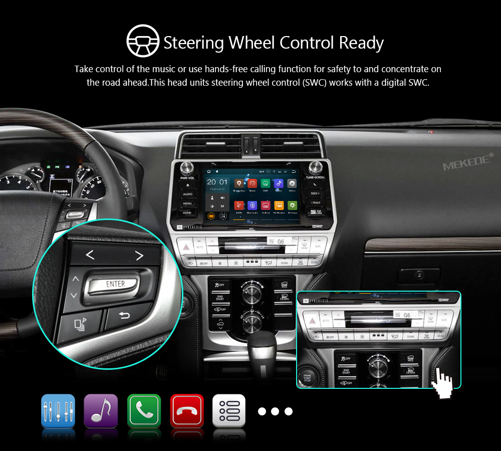 Mekede Px3 Android 81 Car Dvd Radio Stereo Player For Gmc Yukon Automobile Interior Lights Fader 15 6 11