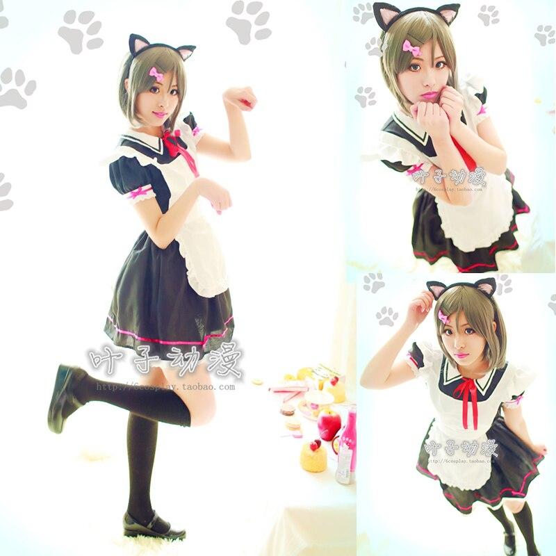 Anime Tsutsukakushi Tsukiko Costume de Cosplay Kawaii femmes filles femme de chambre Cos Costumes robe Lolita