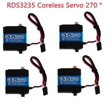 4Pcs 35KG RDS3235 Coreless Digital Servo Hight Torque Metal Gear RC Robot Servo Motor,270 °