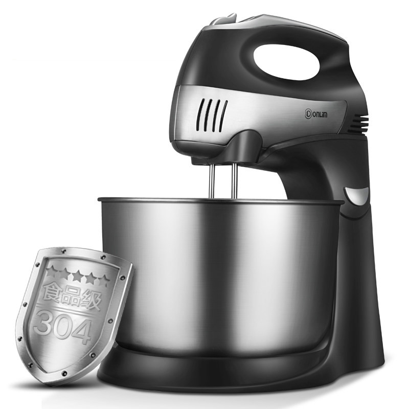 High Power Electric Food Mixer Egg Beater Household Desktop Automatic Agitating Butter and Flour Beater household electric desktop egg beater machine automatic rotary egg beater cream flour stirring machine for baking cake