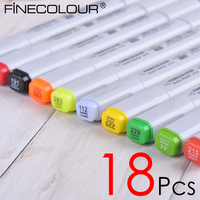 18 P Colors Self Selection Set Finecolour One Marker Pen Commonly Used Sketch Marker Markers
