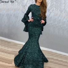 SERENE HILL Mermaid Evening Dresses 2019 Long Sleeves