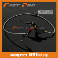 Hydraulic Clutch Lever Master Cylinder 1200mm Black For 125 250cc Vertical Engine Offroad Motorcycle Dirt Bike