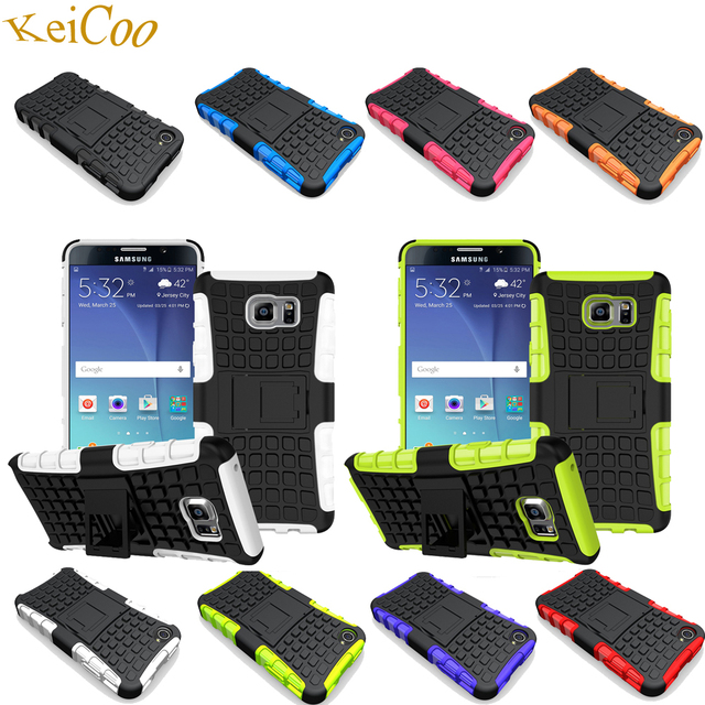 Phone Cases For SAMSUNG Galaxy Note5 N920C TPU Covers Stand Shockproof Full Housing Note 5 SM-N920F Silicon + PC Shell Man Women