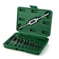 11 шт. набор инструментов для извлечения винтов, сверла, используемые для удаления металлических винты с коробкой, 1 кран, гаечный ключ M3-M12