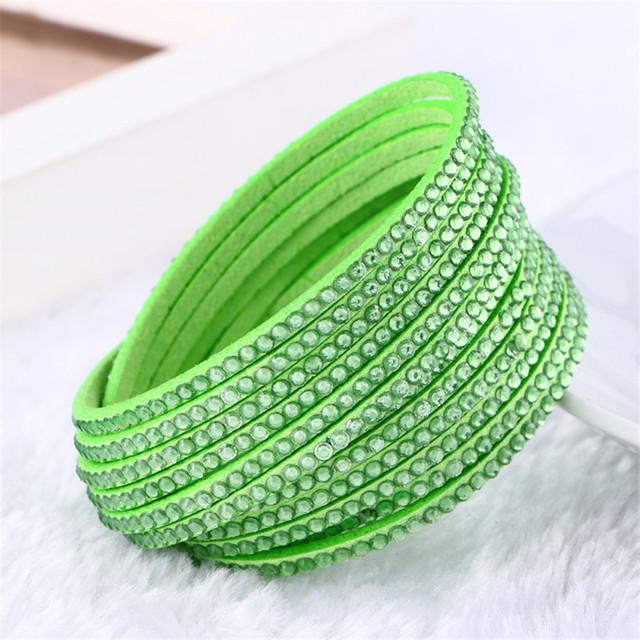Charming Double Wrap Leather Bracelet