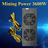 3600 W 20Pin Miner добыча Питание Ферма для майнинга машина с четыре вентилятора для A6 A7 s5 s7 B3 E9 L3 + R4 Шахтер Компьютерные блоки питания