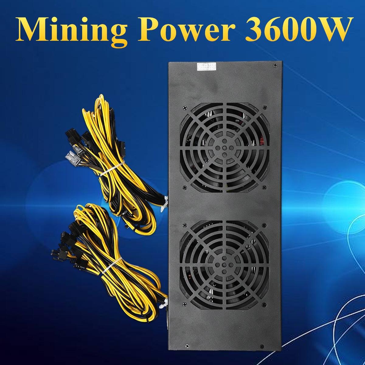 3600 W 20Pin Mining Питание Ферма для майнинга машина с четыре вентилятора для A6 A7 s5 s7 B3 E9 L3 + R4 Майнер Компьютерные блоки питания