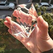 Подвесная гексаграмма большая 100 мм художественная граненая рукоделие иудаизм хрустальная люстра художественного стекла прозрачные призмы подвеска Украшение часть