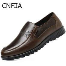 44834c5e46 CNFIIA Sapatos Formais Sapatos De Couro Dos Homens 2018 Novo Verão Outono  Marrom Preto Clássico Masculino de Luxo Da Marca Sapat.