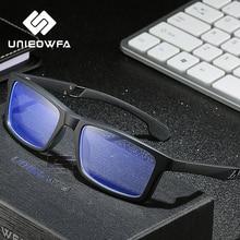 TR90 spor bilgisayar gözlük çerçevesi erkekler optik Anti mavi işık reçete gözlük çerçeve miyopi temizle gözlükler şeffaf