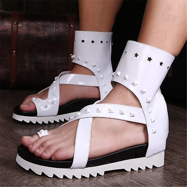 Blanco de verano Sandalias de Playa de Los Hombres Pisos Flip Flops Plataforma Sandalias Hombres Zapatos de Nuevo Cremallera Zapatos de Plataforma Plana