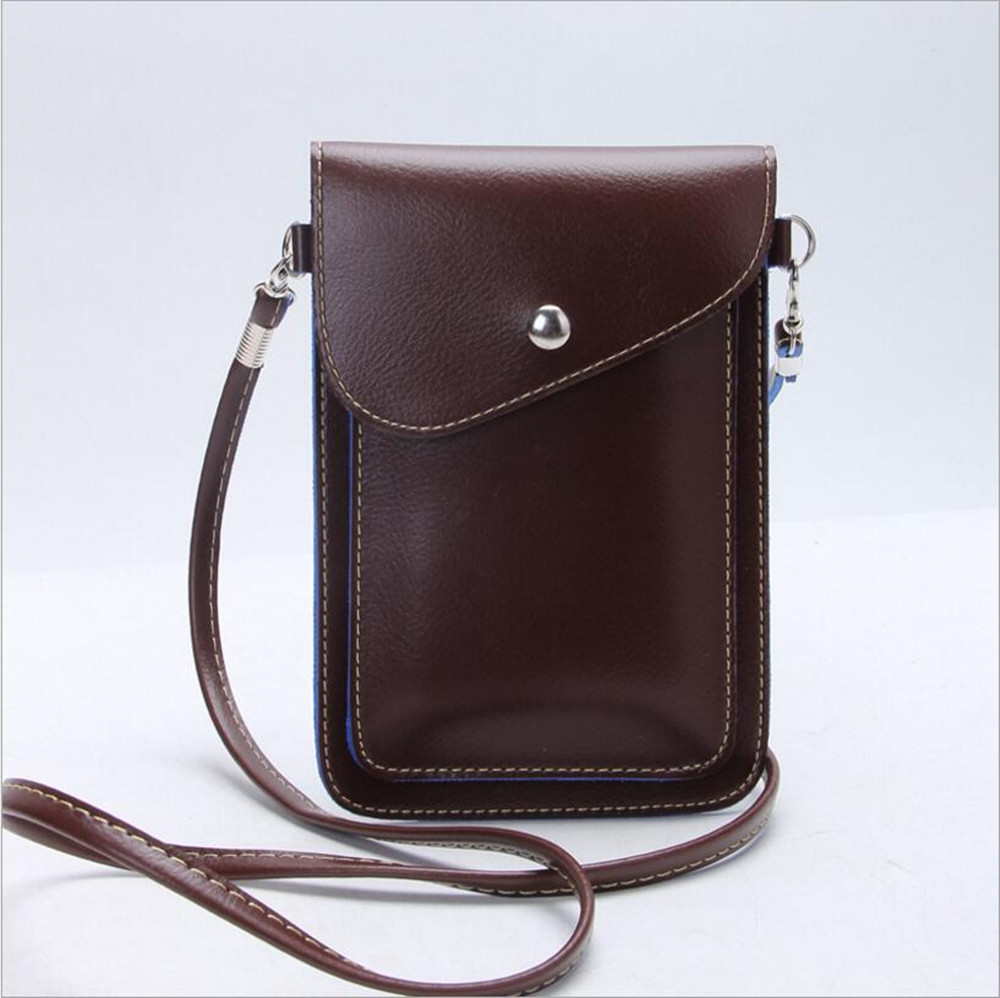 Из искусственной кожи телефон сумка карман кошелек Чехол шейный ремень для Samsung S4 S5 для iPhone 5 5S 6 7 Plus