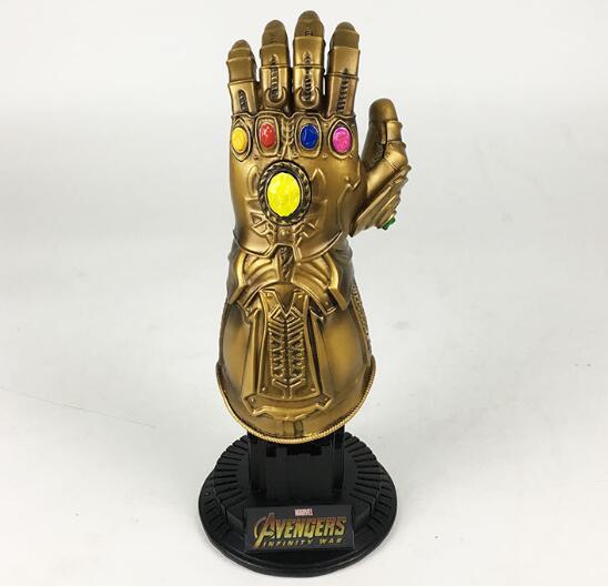 NEW 22cm Avengers Infinity War Thanos Infinity Gauntlet 1:1 model Resin toys doll Christmas gift