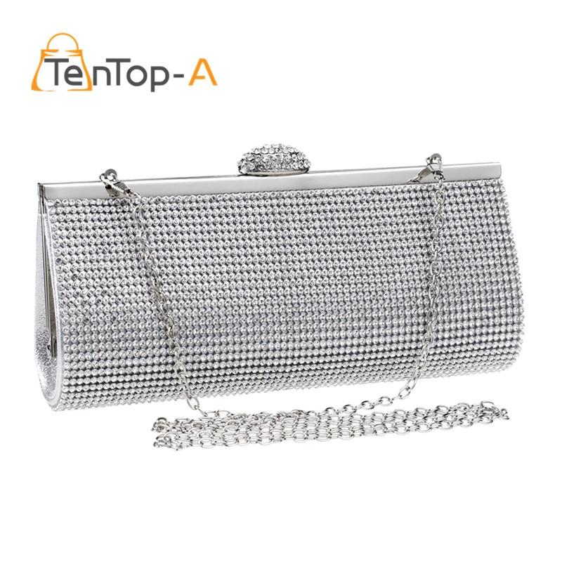 Free shipping 2016 We Best Price Diamond Eveningbag High Grade Full Rhinestone Dinner Bag/Clutch Purse/Bridal Wedding Bag NO3086 free shipping best price wide range