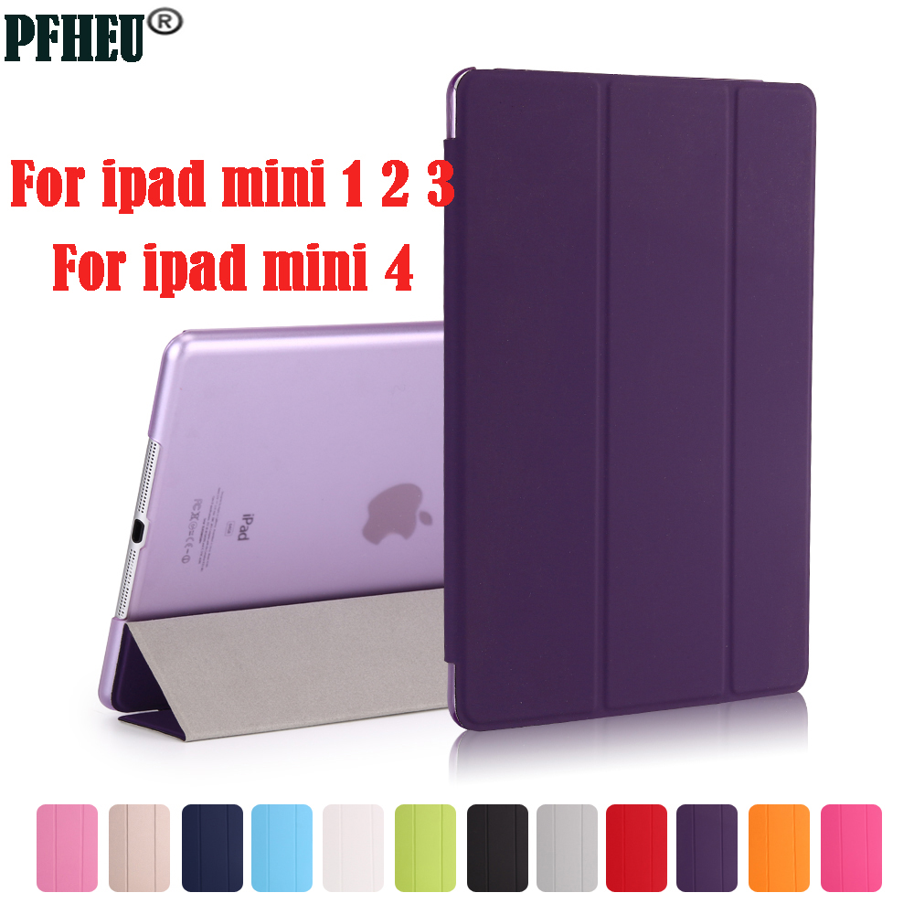 Case for iPad Mini 4 3 2 1 Case PU Leather Silicone Hard Back Trifold Stand Auto Sleep/Wake up Smart Cover for iPad Mini 4 Case alice stainded glass princess girly smart cover case for apple ipad mini 1 2 3 4 air pro 9 7 auto sleep wake