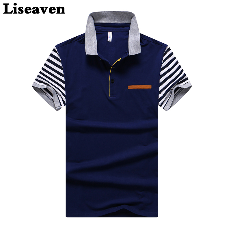 Liseaven Men Cotton   Polo   Shirt Short Sleeve   Polos   Male Casual Tee Turndown Collar Camisa for Men Tops & Tees